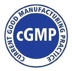 Current Good Manufacturing Practices cGMP Certification Logo